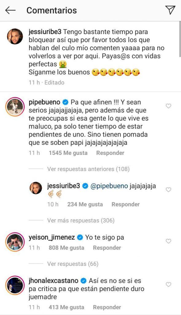 ¡Se cansó! Jessi Uribe respondió con groserías a quienes lo critican