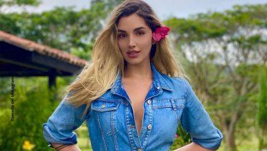 Al mejor estilo, Melina Ramírez posó con costoso tapabocas