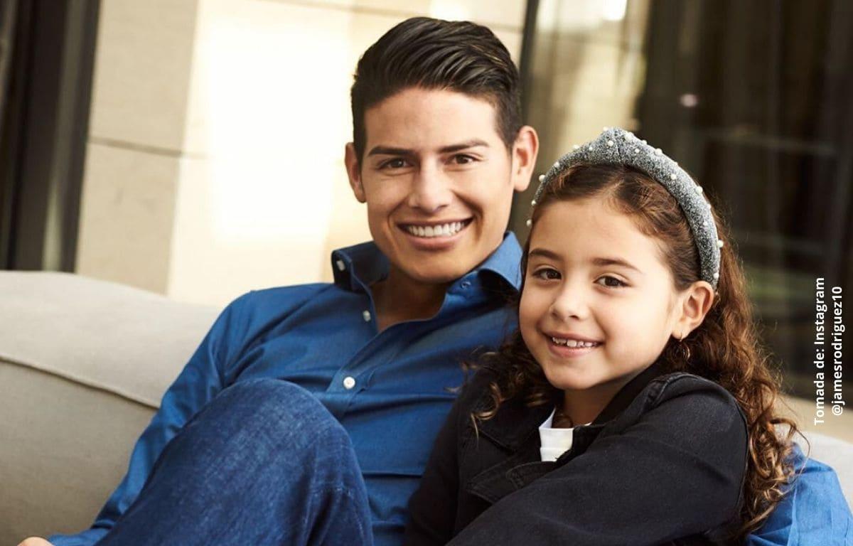 Pintándole las uñas, James Rodríguez celebra cumpleaños de su hija