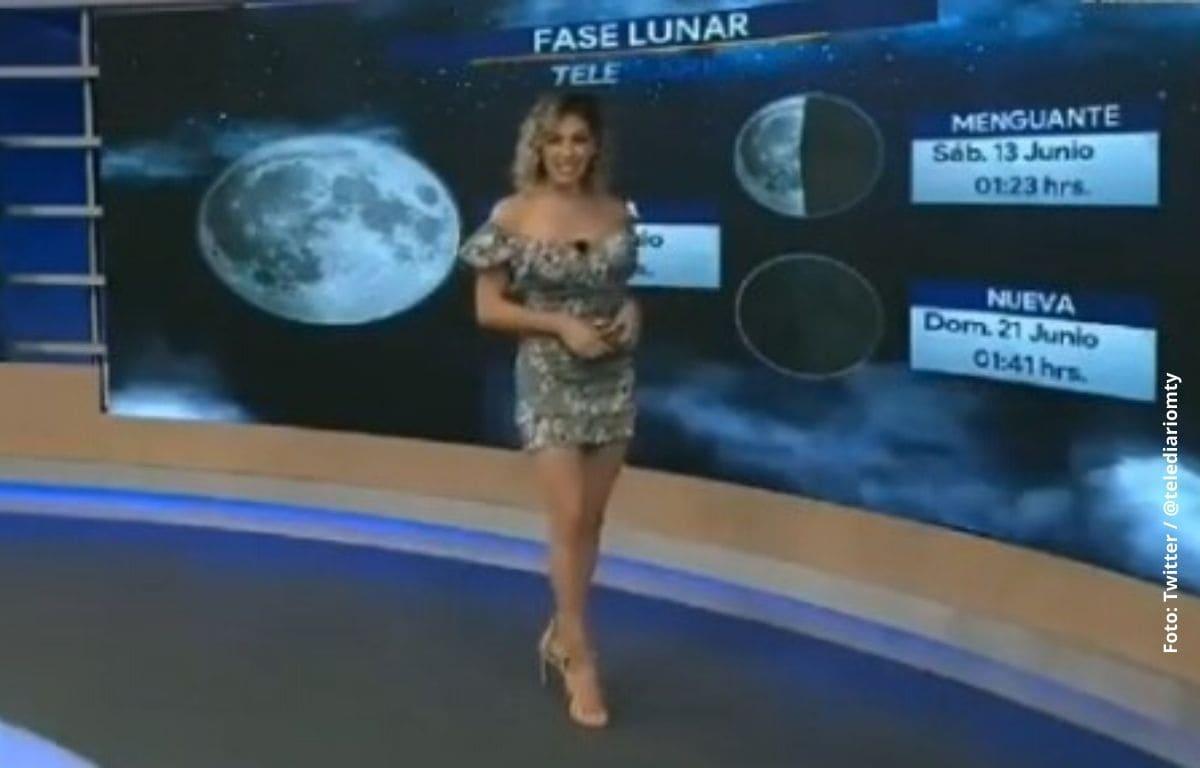 Sexy presentadora se cae en plena transmisión en vivo
