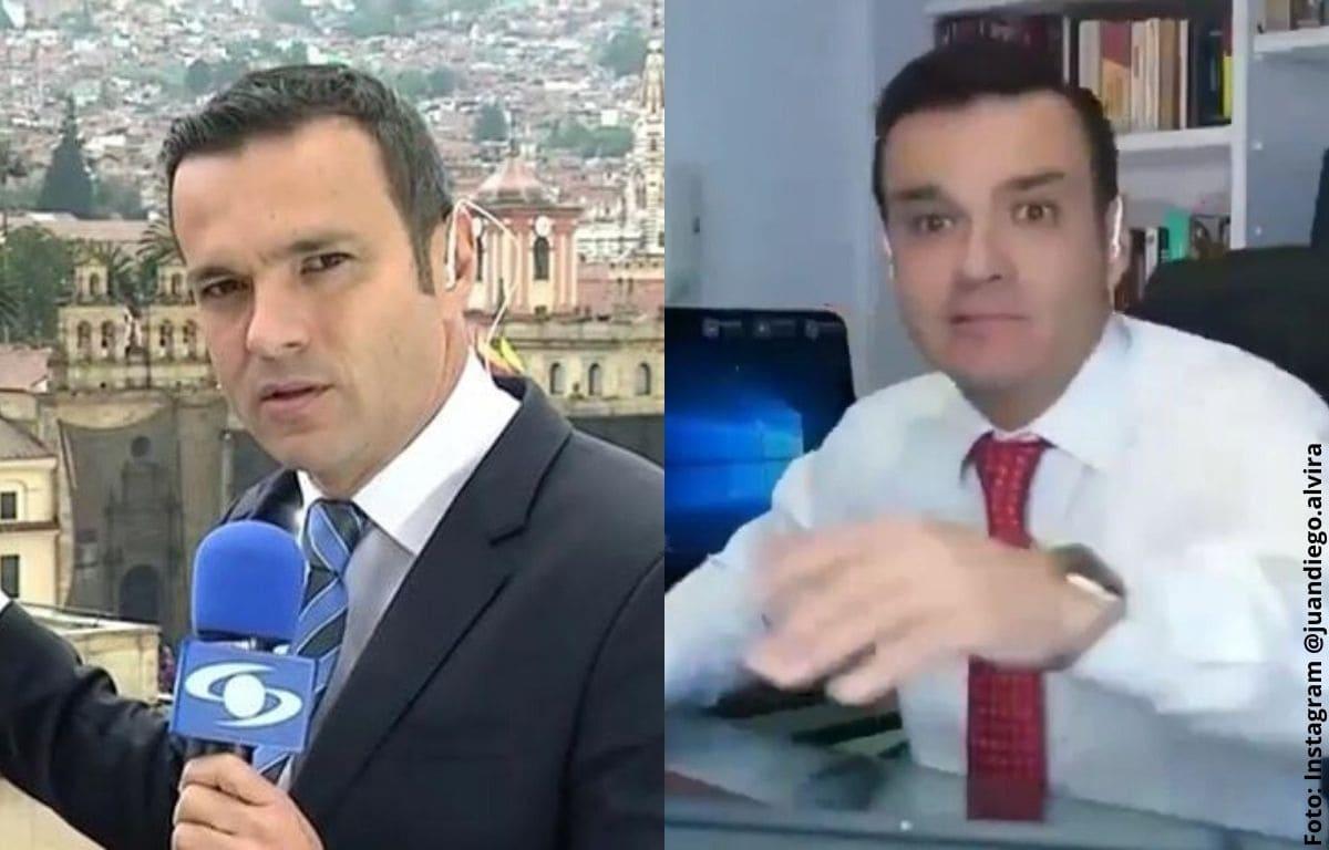 El divertido regaño de Juan Diego Alvira en Noticias Caracol