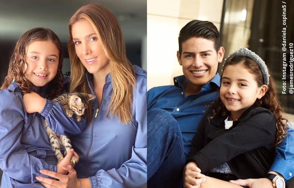 Hija de Daniela Ospina salió muy maquillada y recibió críticas