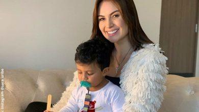 Sara Uribe presume los primeros pasos de su hijo