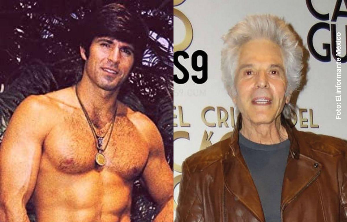 hombre sin camisa y un hombre anciano