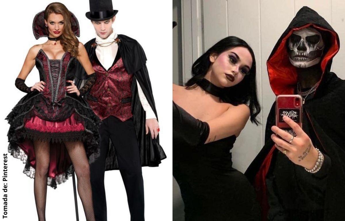 personas disfrazadas de vampiros
