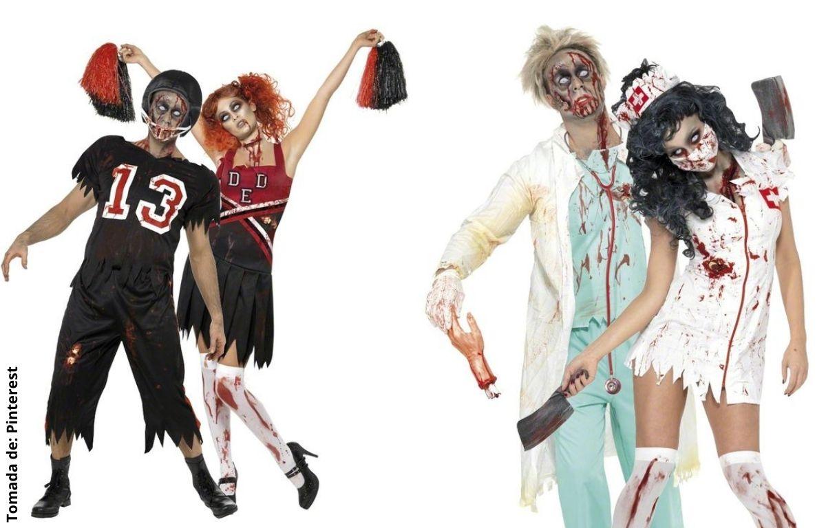 disfraces de zombies deportistas y médicos