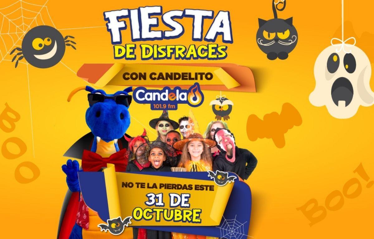 Asiste a la gran fiesta de disfraces con Candelito Candela