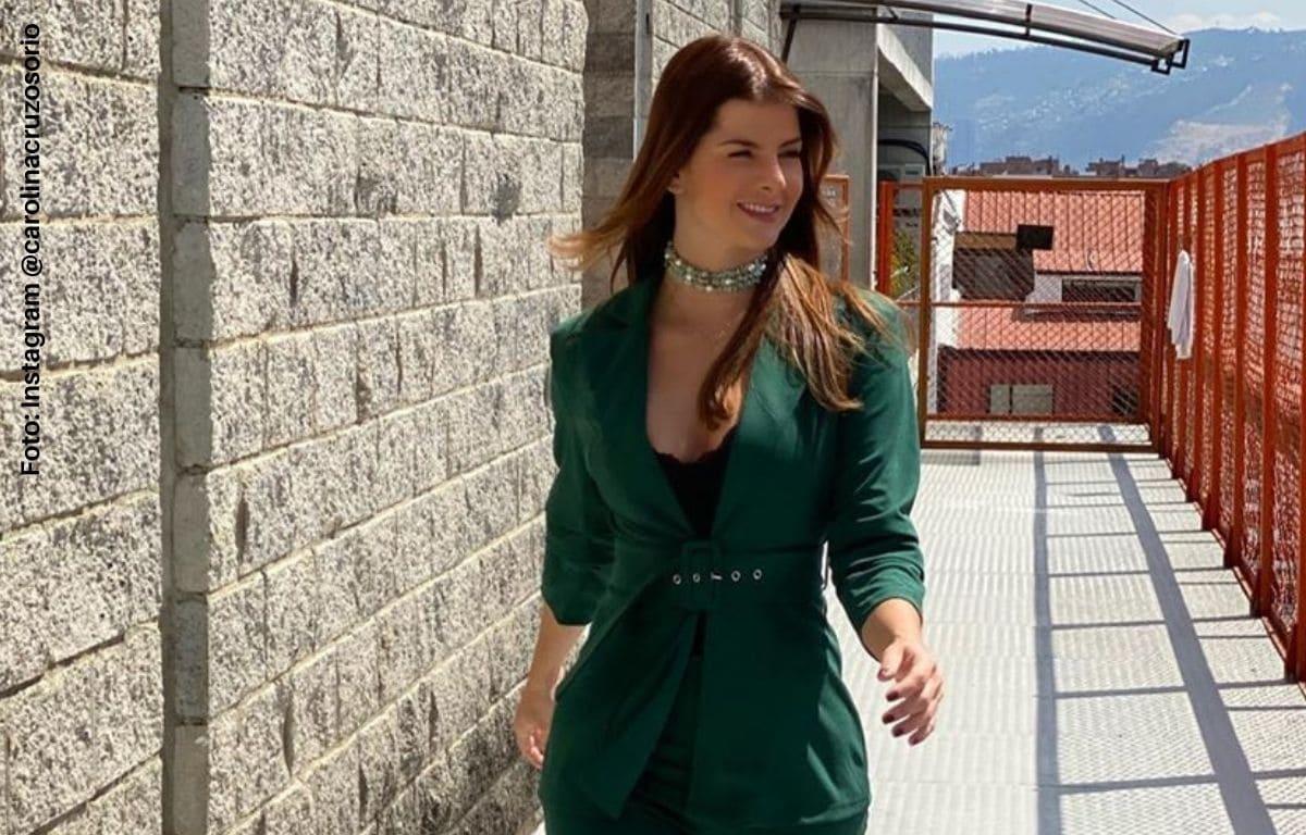 Carolina Cruz presumió su barriguita de embarazo en lencería