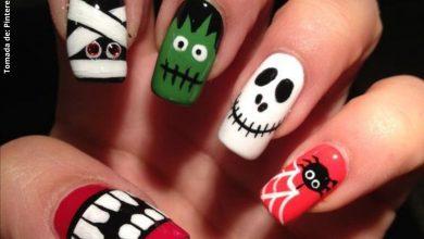 Decoración de uñas para Halloween