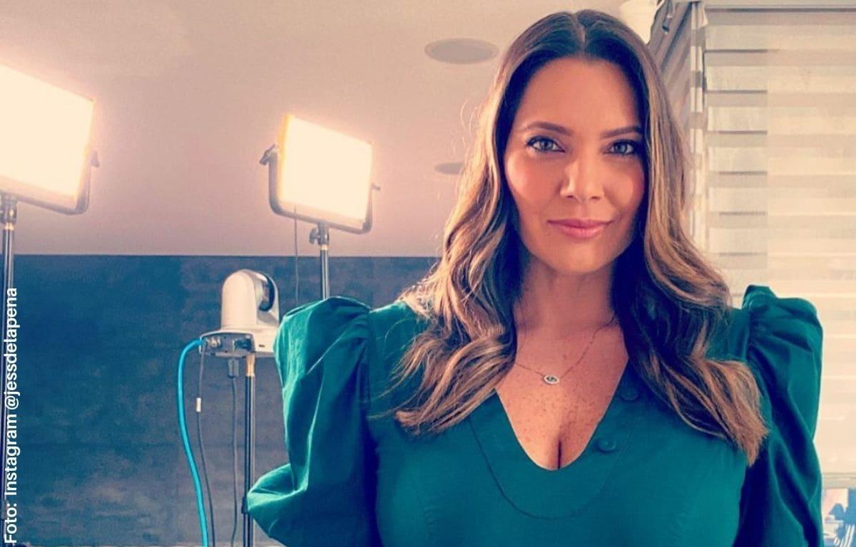 Jessica de La Peña presumió su avanzado estado de embarazo