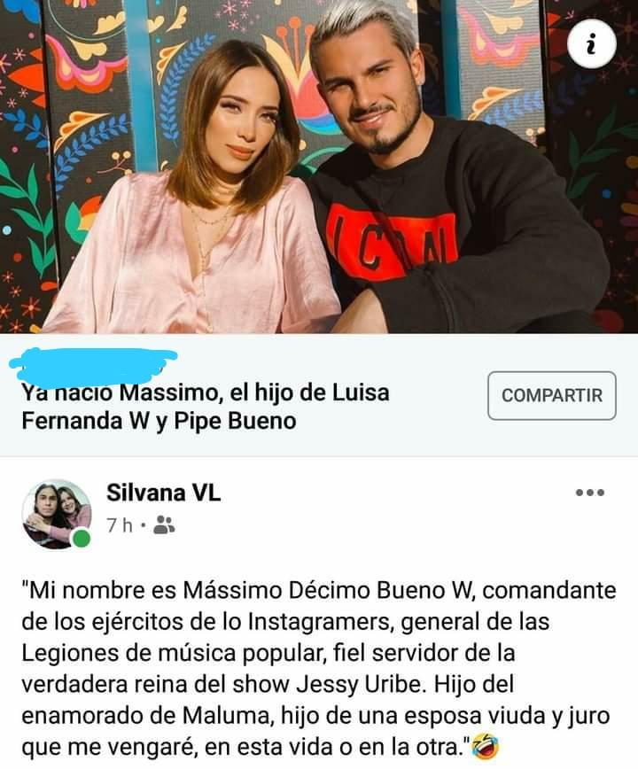 Los memes que dejó el nacimiento del bebé de Luisa FW y Pipe Bueno