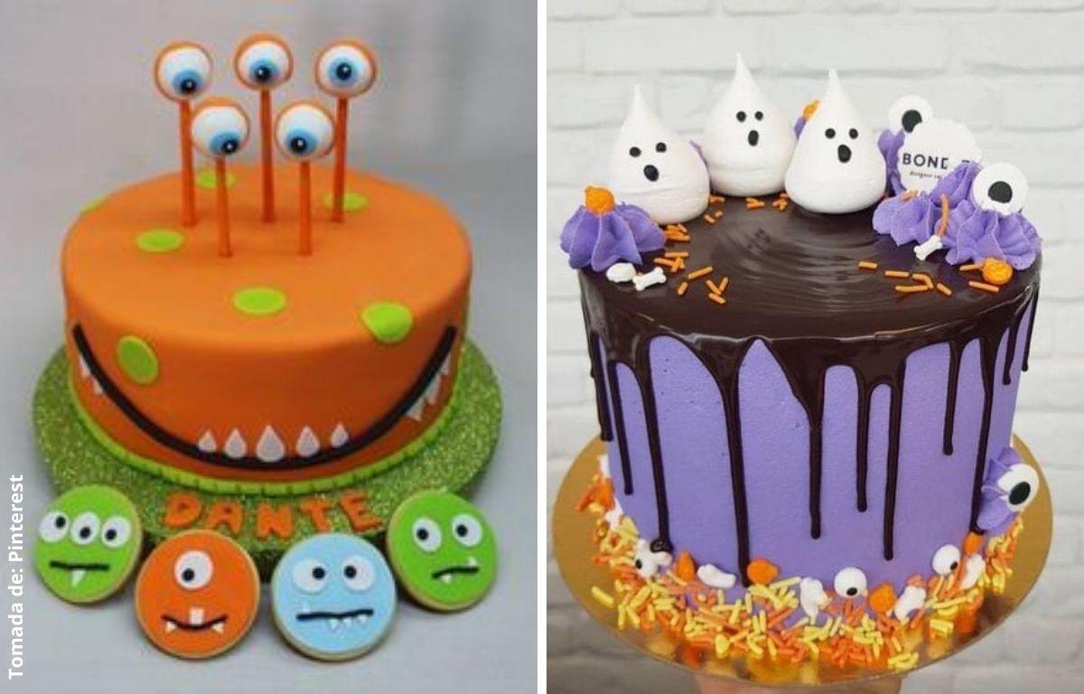 tortas decoradas con ojos y fantasmas