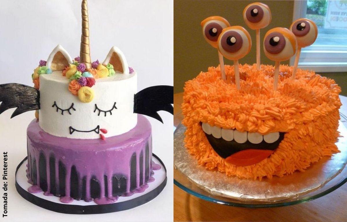 tortas decoradas con ojos y murciélago