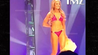 A reina de belleza se le cae el bikini en plena pasarela