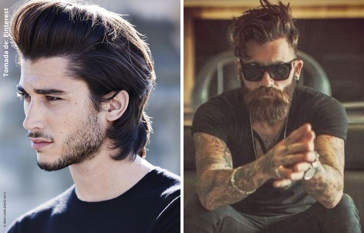 hombres con pelo liso