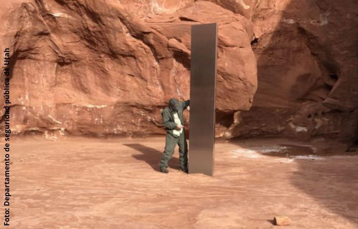 Encuentran extraña estructura en desierto y genera teorías alienígenas