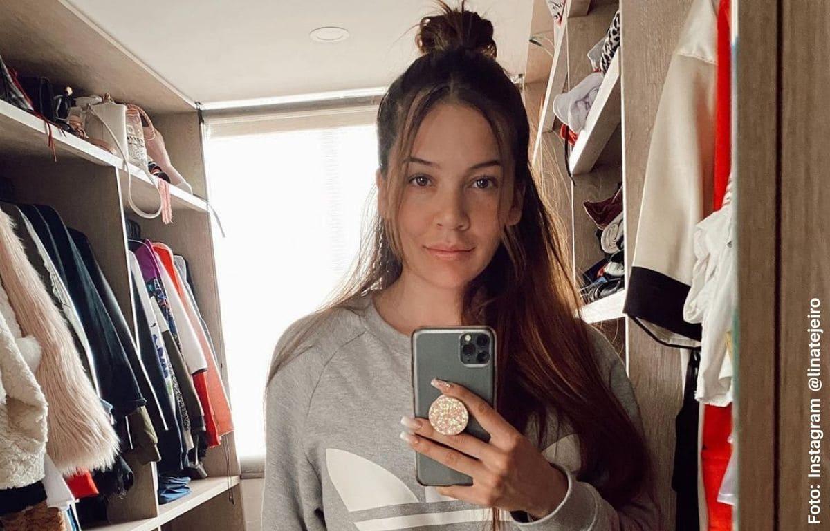 Lina Tejeiro calentó las redes al quitarse toda la ropa
