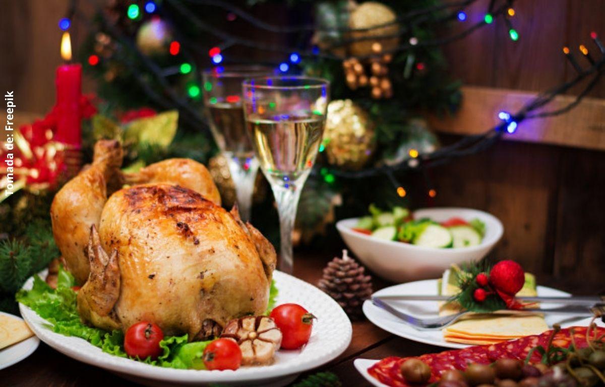 foto de comida navideña
