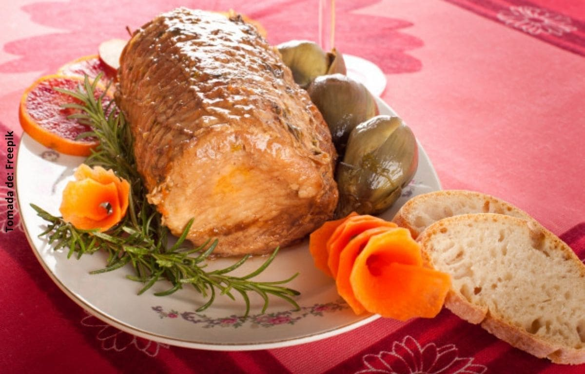 Lomo de cerdo navideño fácil y rápido de hacer