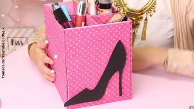 Organizador de maquillaje fácil de hacer