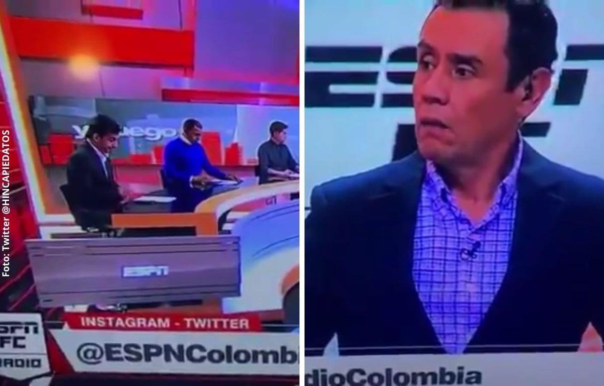 Periodista deportivo tiene preocupante accidente en TV