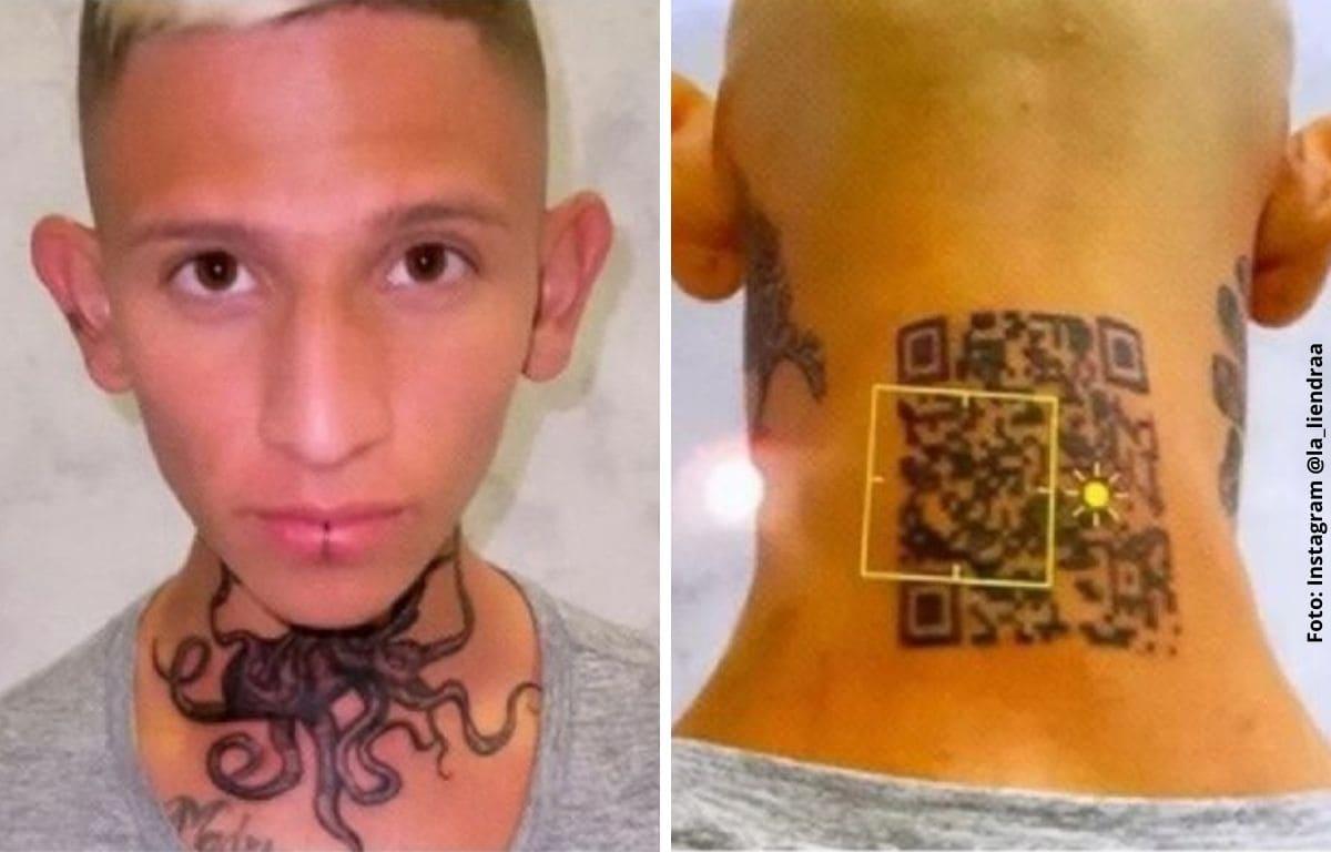 Tatuaje código QR de La Liendra no funciona y recibe burlas