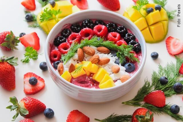 foto de plato con frutas