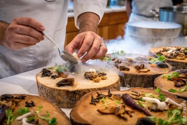 foto de platos de alta cocina