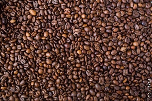 foto de granos de café