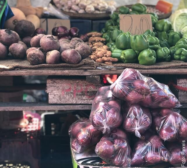foto de mercado de remolachas