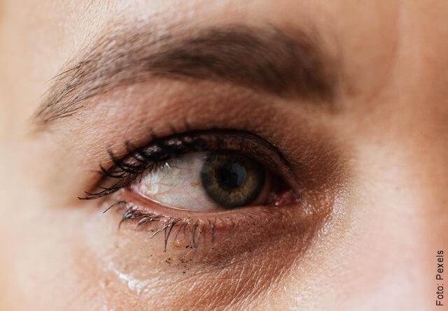 foto de ojo con ojeras