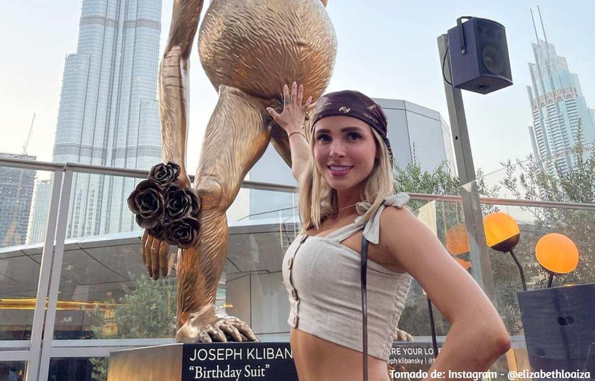 Incómoda situación de Elizabeth Loaiza en zoológico de Dubái