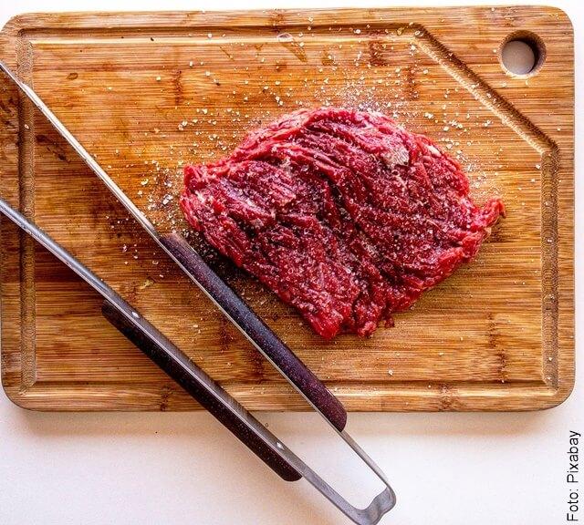 foto de carne con bicarbonato