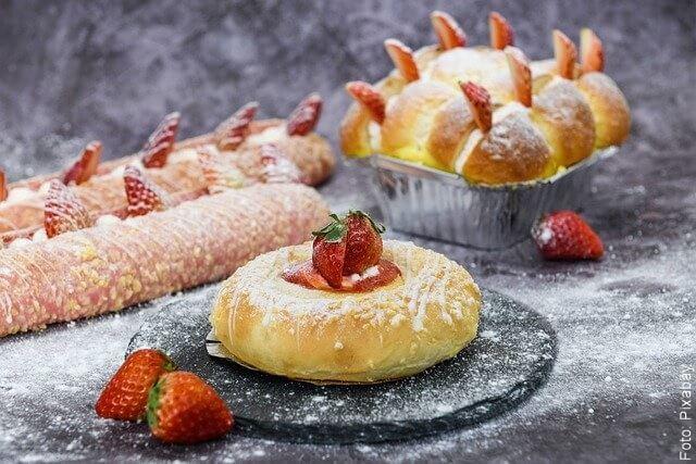 foto de productos de panadería y repostería con bicarbonato
