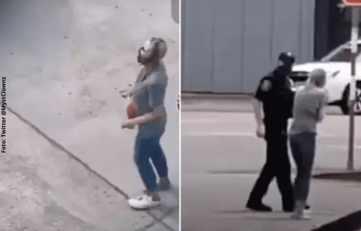 En video quedó registrada supuesta mujer zombie en EEUU