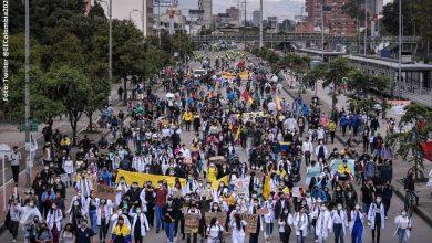 Joven rechazó las marchas en Bogotá por no poder ir a un restaurante