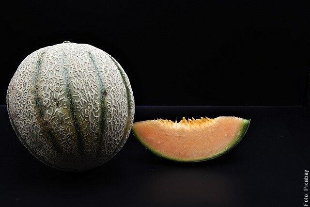 foto de melón con fondo negro