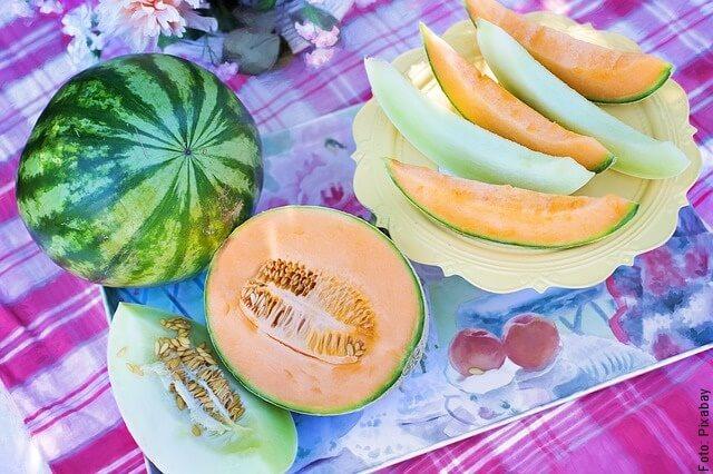 foto de picnic con melón