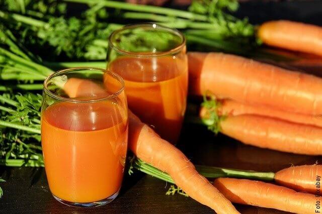 foto de jugo de zanahoria