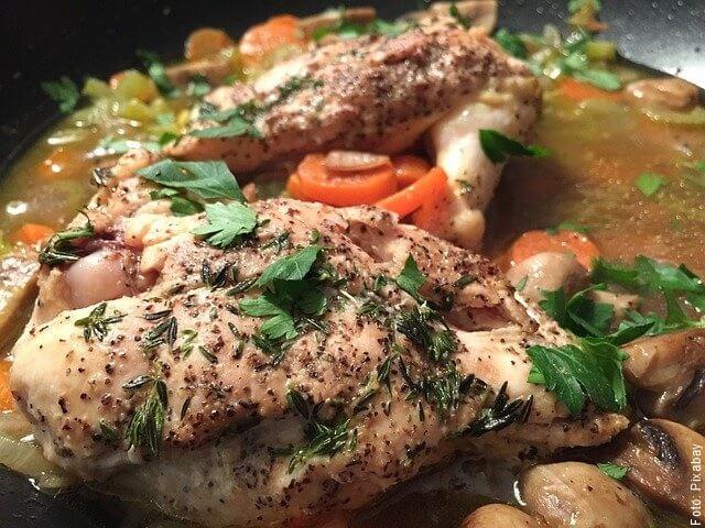 foto de pollo cocinado