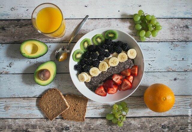 foto de alimentos saludables