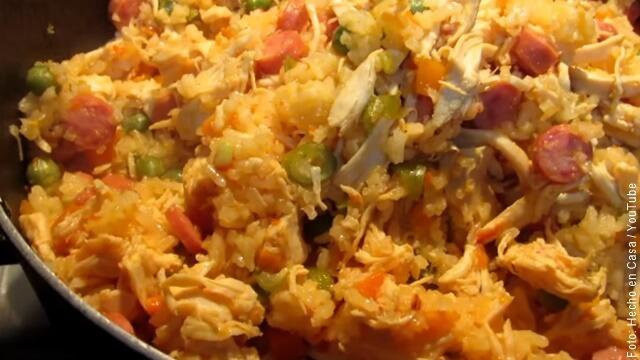 foto de arroz con pollo