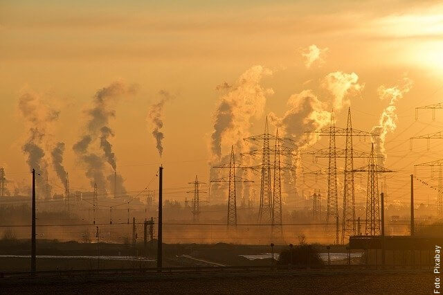 foto de contaminación
