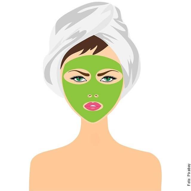 ilustración de mujer con mascarilla