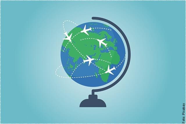 ilustración de viajar por el mundo