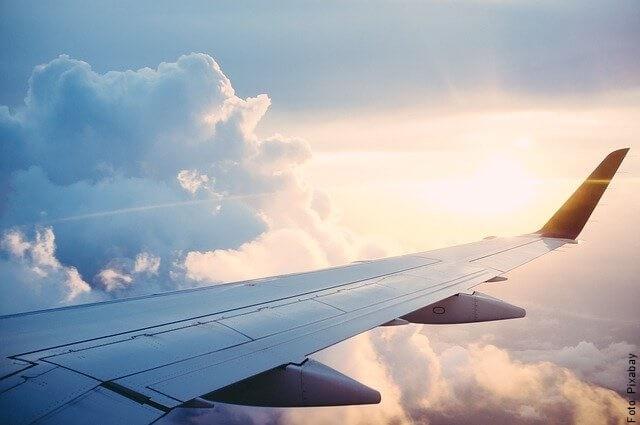 foto del ala de un avión