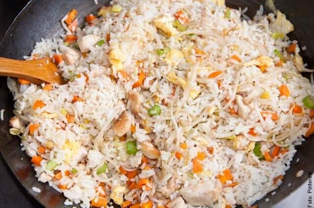 foto de paso a paso del arroz chino