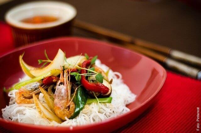 foto de plato oriental