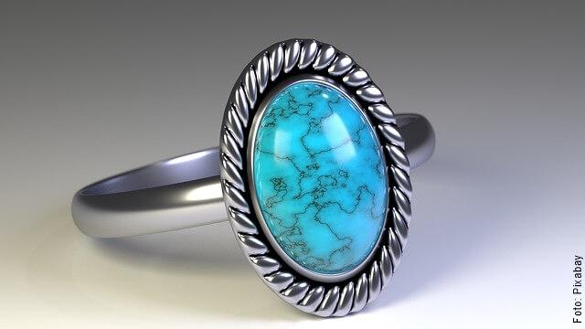 foto de anillo azul