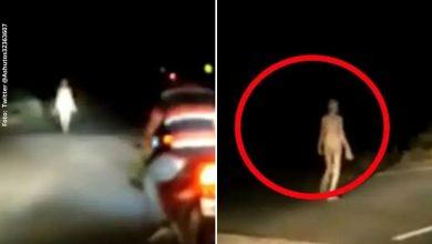 Supuesto alienígena es visto en desoladas calles de India